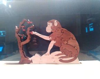 Puzzle: Monkey (wood pine)