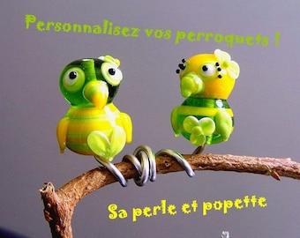 Personalize your parrots! you choose - glass parrots