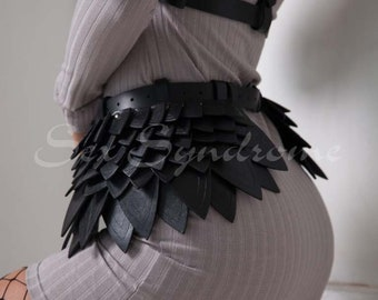 """Leather harness skirt """"KnightGirl"""""""