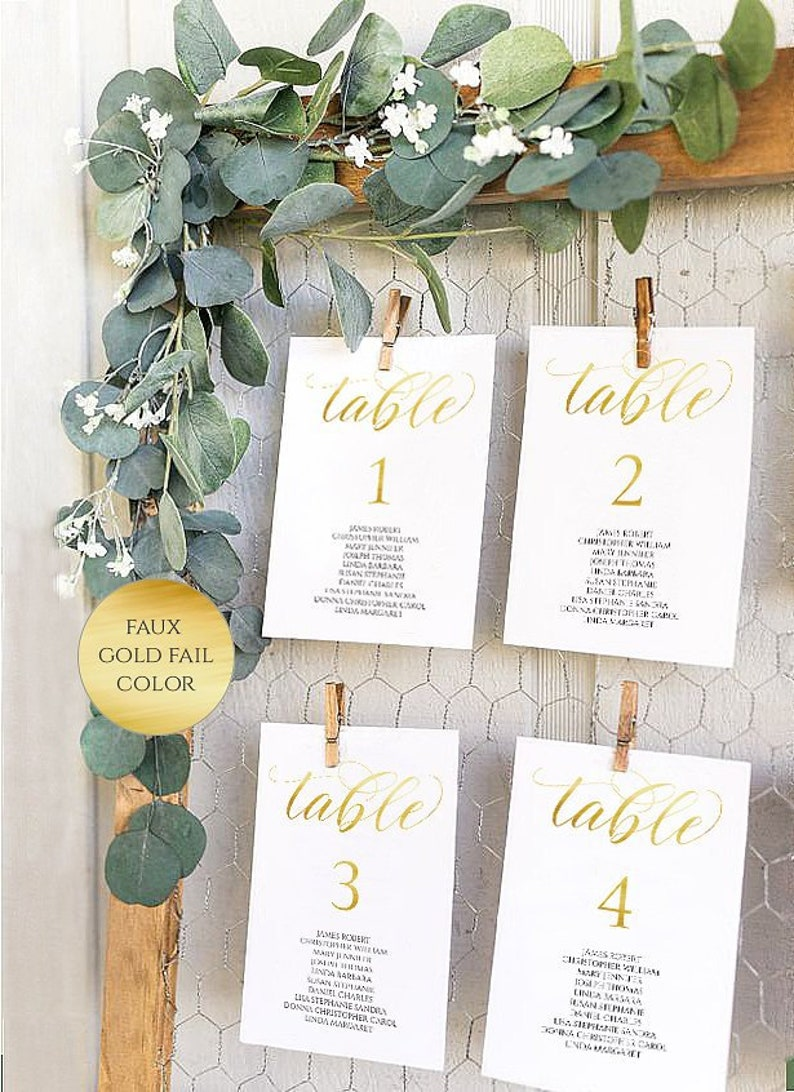 table Seating Chart gold printable Seating Chart Template gold Calligraphy golden elegant Seating plan Editable Template seating chart