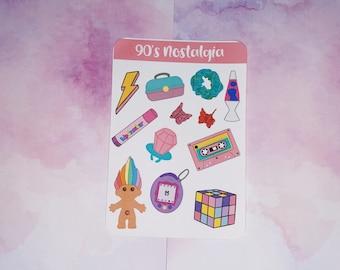 90's Nostalgia Sticker Sheet