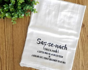 sassenach kitchen towel flour sack towels kitchen hanging towel kitchen hand towel tea towel - Kitchen Hand Towels