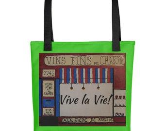 Vive la Vie (Live Life!) French Tote Bag