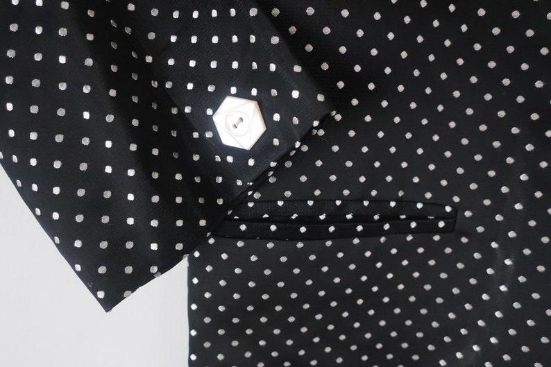 Vintage Satin Polka Dot Tuxedo Jacket