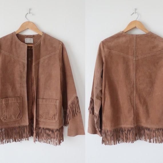 Suede Fringed Western Stevie Nicks Jacket