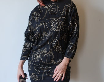 80s Hip Hop Graphic dress