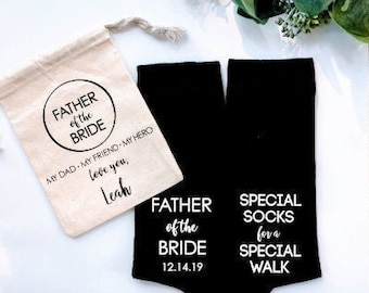 Father of the bride socks, father of the bride gift, special socks for a special walk, dad of the bride, father of the bride, dad socks.