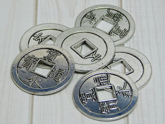 Chinese Coin Pendants Ancient Chinese Coin Replica Coins Etsy