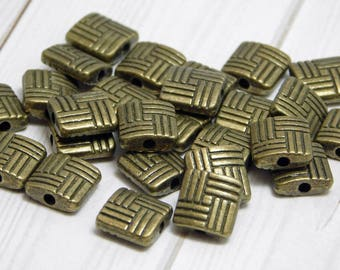 8mm - Metal Beads - Bronze Beads - Spacer Beads - Bronze Spacers - Pewter Beads - Lead Free - Brass Beads - 10pcs (2857)