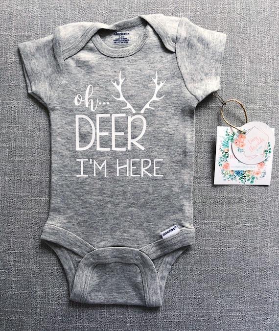 Oh Deer I/'m Here Onesie