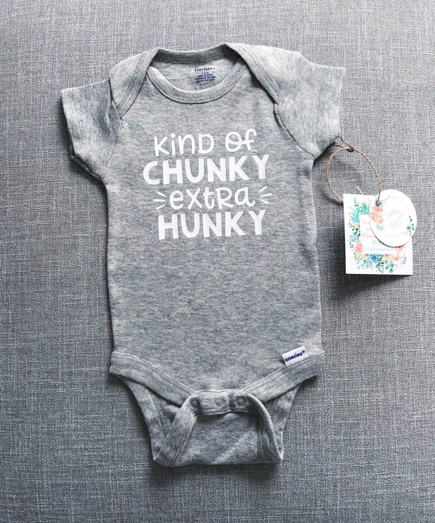 Sunray Clothing Kinda Chunky Extra Hunky Baby Boy Onesie