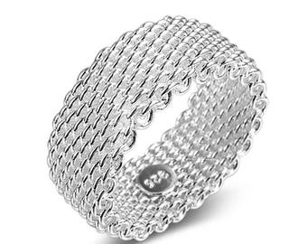 Silver Sterling  Fashion Jewelry Ring for Women Girl Men