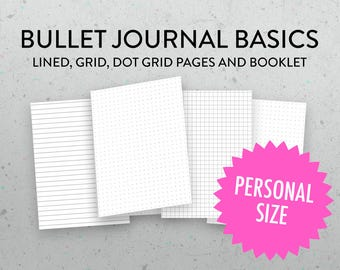 micro size grid dot grid lined tn insert bullet journal etsy