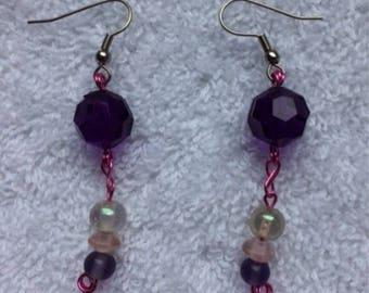 Beaded Dangle Pierced Earrings