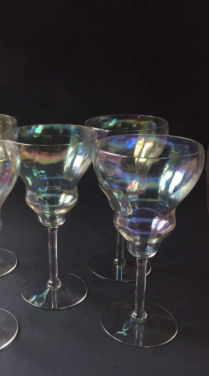 Iridescent Martini Glasses Set of 4