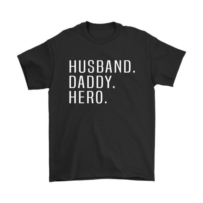 ae694d1bd Husband Daddy Hero T-Shirt Father's Day Gift Daddy | Etsy