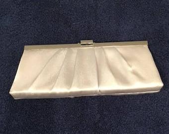 Silver Pleated Vintage Clutch Shoulder Bag