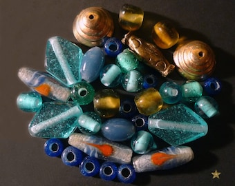 Made of glass beads Indonesian and metal