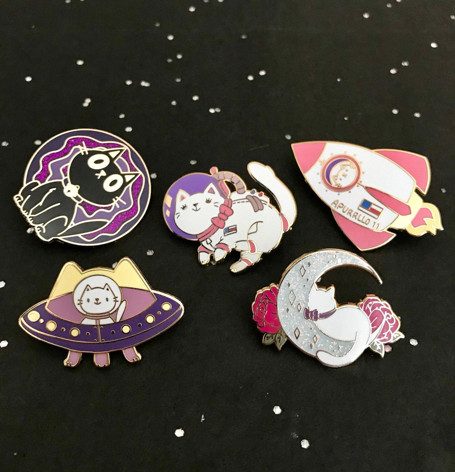 Mini Boobs Enamel Pin Spacedust