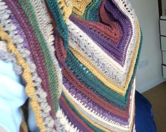 Large shawl / scarf / wrap. Secret Paths design
