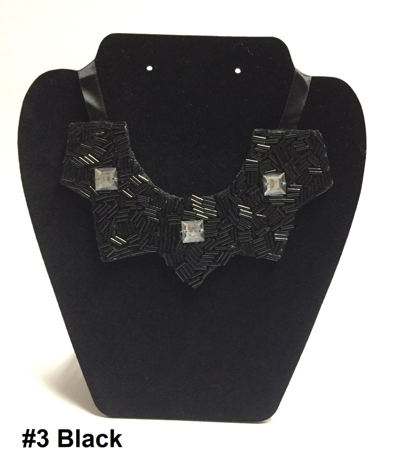 Small Bib Necklaces with Bugle Beads of your choice