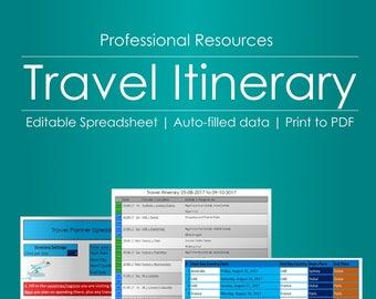 travel budget calculator editable spreadsheet etsy