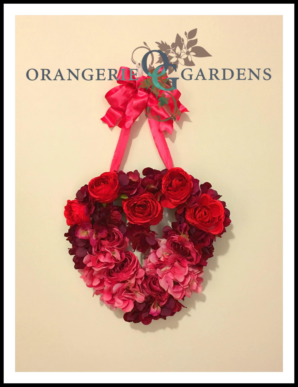 Valentines Wreath For Front Door Valentines Day Rose Wreaths Door