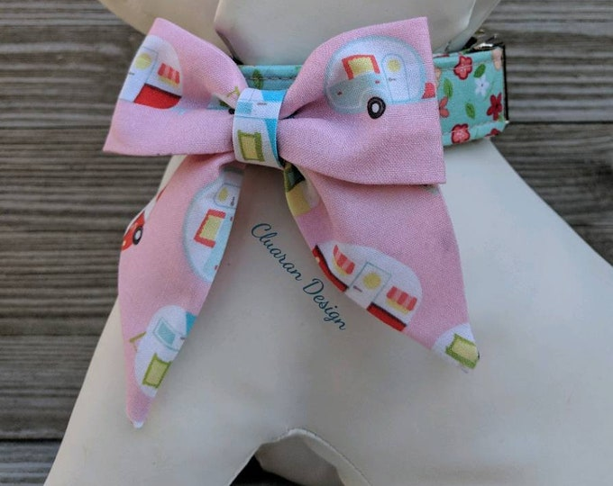 Featured listing image: Sailor Bow Tie for the Girls- Dog Collar Accessory