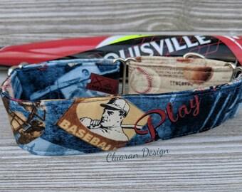 Baseball Dog Collar - Martingale Dog Collar - Baseball Martingale Dog Collar - Greyhound Collar - Whippet Collar - Italian Greyhound Collar