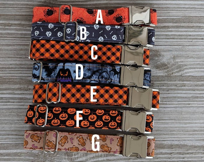 """Ready to Ship, 1"""" Wide Holiday Quick Release Buckle Collars - Dog Buckle Collars - Dog Gifts"""