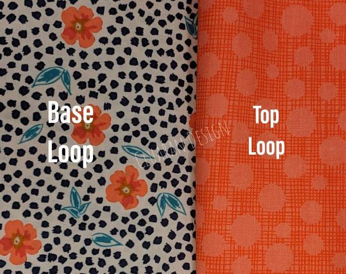 Sassy Leopard Poppy with Hashmark/Dots Top Loop - Poppy Dog Martingale Collar - Greyhound Collar - Whippet Collar - Italian Greyhound Collar