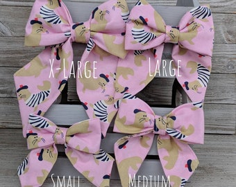 Girlie Dog Bow Tie - Sailor Bow Tie - Dog Collar Accessory - Puppy Collar Accessory - Dog Fashion - Pet Gift - Puppy Gift -Dog Gift