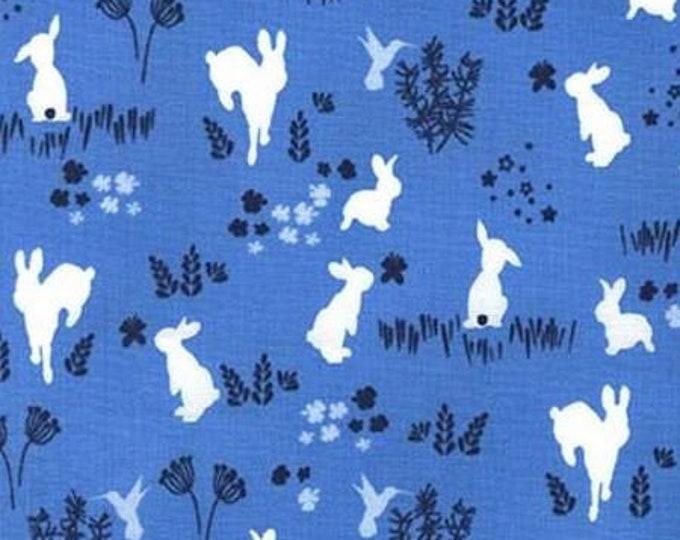 Blue Bunny Hop - Metal Buckle Dog Collar or House/Tag Collar - Easter Dog Collar - Spring Dog Collar - Fashion Dog Collar - Dog Gift