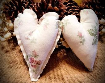 Mid Century Modern Heart Ornaments Set of 5 OOAK MCM Textured Hearts Bowl Filler