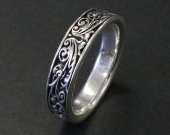 Arabesque Sterling Silver Ring (Handmade in Tokyo Japan)