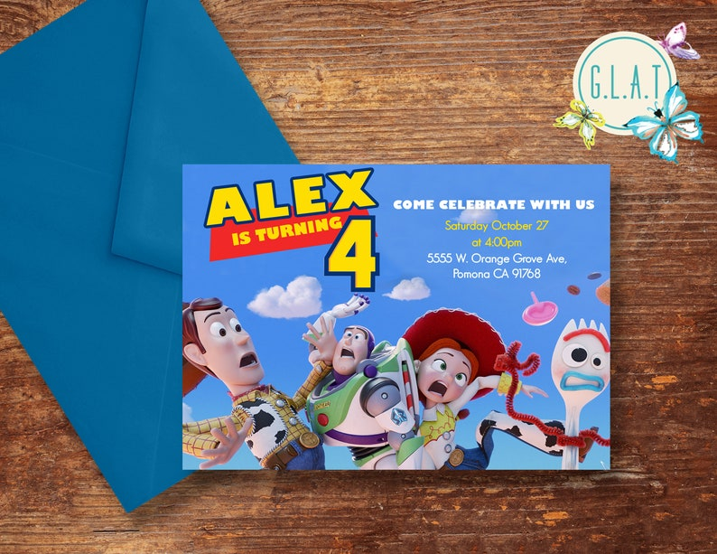 Invitation De Toy Story 4 Toy Story Anniversaire Inviter Soirée à Thème Toy Story Invitation De Toy Story