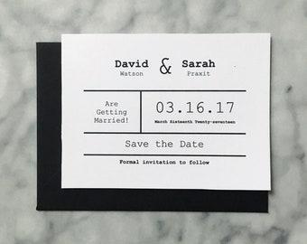 Typewriter Wedding Invitations Etsy