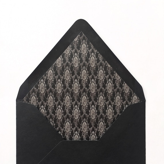 Victorian Envelope Liners Lined Envelopes Wedding Etsy