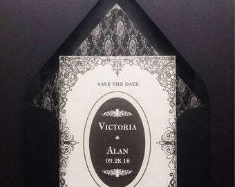 Victorian Gothic Halloween Save the Dates