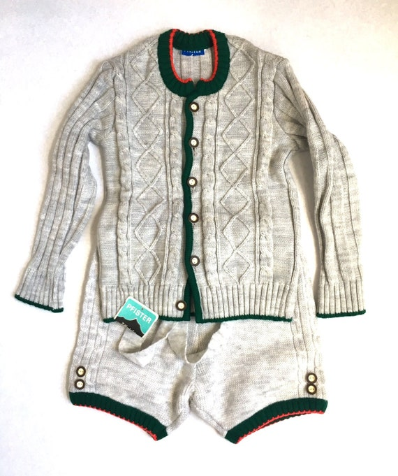 Vintage Bavarian Child's two piece with Cardigan a