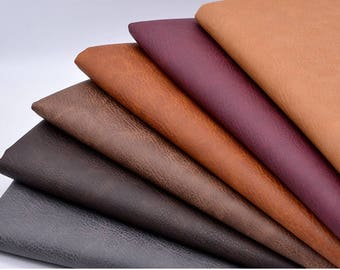 Crazy Horse Leather, Artificial Leather, Pull-up Leather, Faux Leather Fabric, Pleather, DIY, By the yard