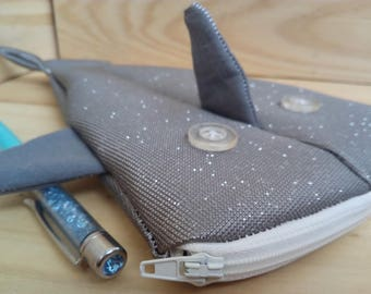 Shark grey imitation leather pailette Kit