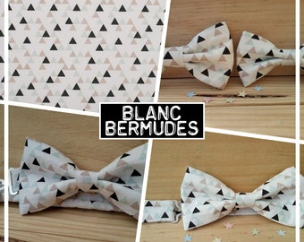 """""""White Bermuda"""" baby-child-teen bow collection"""