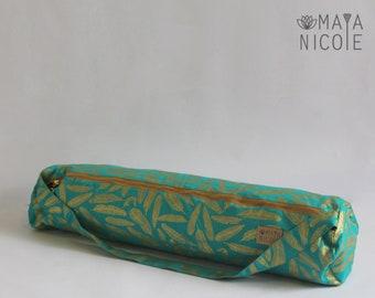 Handmade Yoga mat bag, Yoga bag with full zipper, inside zipper pocket, Exercise mat bag, Pilates bag