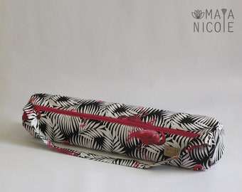 Yoga mat bag, Handmade Yoga bag, Exercise mat bag, Pilates mat bag, Full zipper, Inside zipper pocket