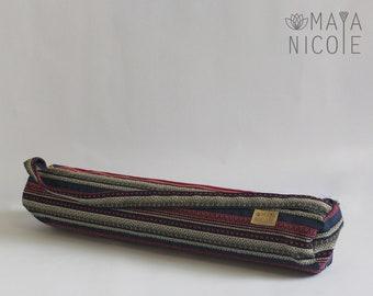 Hoho Ethnic Handmade Yoga Mat Bag, Exercise mat bag, Pilates mat bag, Full zipper yoga bag, Inside zipper pocket