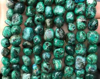 805fe4ccc 10mm Round Green Chrysocolla Phoenix stone Beads Rounded Puffy Green  Chrysocolla 40pcs