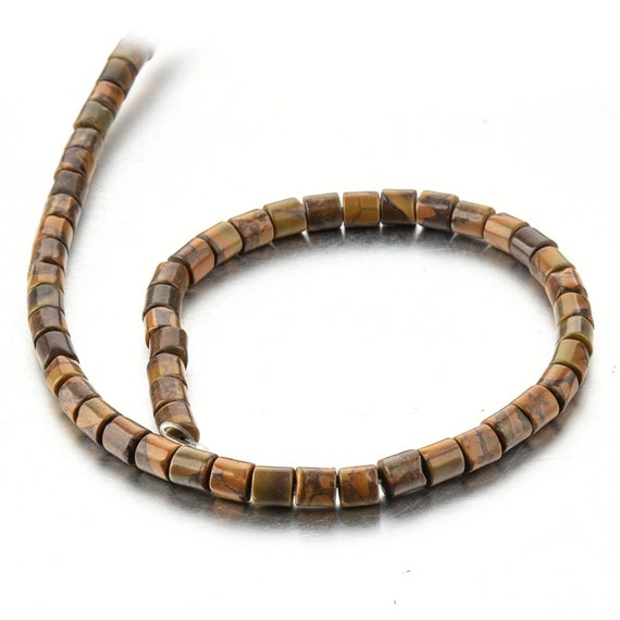 One Strand 6*6MM Natural Colored Stone Cylinder Beads