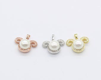 Pearl Ram Double Bail Pendant Ram Necklace