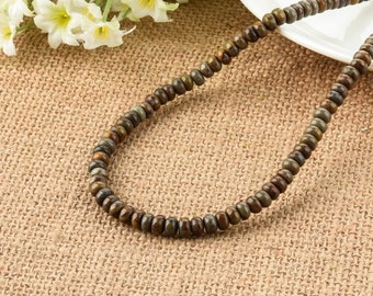 Bamboo Leaf Agate Rondelle Beads 4*6mm
